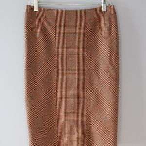 NWOT Carolina Herrera 100% wool pencil skirt